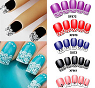 15 Sets of French Lace Nail Stickers