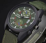 Мужской Армейские часы Календарь Кварцевый Материал Группа Повседневная Черный Коричневый