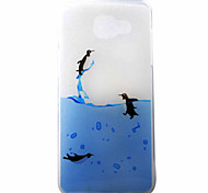 Penguins Swimming Pattern Material TPU Phone Case for Samsung Galaxy A3(2016) A5(2016)