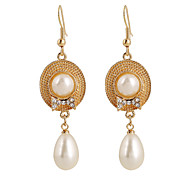 Fine Jewelry European Style High-Grade Pearl Zinc Alloy Cap Earrings