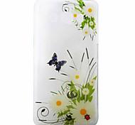 Daisy Butterfly Pattern Material TPU Phone Case for Samsung Galaxy J3 J5 J7 J1(2016) J510 J710 G530