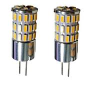 4W G4 LED Doppel-Pin Leuchten T 48 SMD 3014 300-450 lm Warmes Weiß / Kühles Weiß / Natürliches Weiß Dekorativ DC 12 V 2 Stück