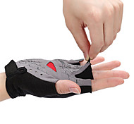 Gloves Cycling/Bike Unisex Fingerless Gloves Anti-skidding / Wearproof / Breathable / Wicking Summer Green / Red / Blue