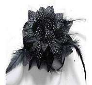koreanische Blumenmädchens Blume Feder fabrichair Clip