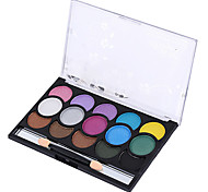 15 Lidschattenpalette Trocken Lidschatten-Palette Puder Normal Party Make-up / Alltag Make-up / Halloween Make-up
