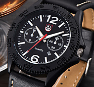 New Men Casual Fashion Watches Luxury Men's  Date Gift Quartz-Watches Leather Strap Sport Watches Relogio Masculino