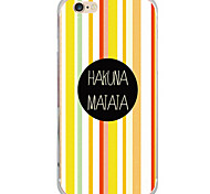Pattern Cartoon Color Strip PC Hard Case Back Cover For Apple iPhone 6s Plus/6 Plus / iPhone 6s/6 / iPhone SE/5s/5