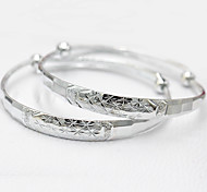 Bangles 1 pair,Adorable Round Silver Sterling Silver Jewelry Gifts