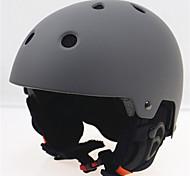 RAZZQKid's / Unisex helmet L58-61CM Sports Ultra Light (UL) Fixed 14 CE EN 1077 Snow Sports / Ski Gray PC / EPS