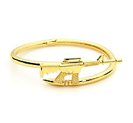 vintage men jewelry lanascolarodiamonds machine gun AK47 cuff bracelets gold bangle stainless steel bracelet hommel