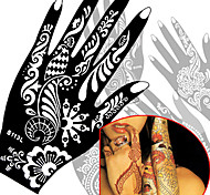 2Pcs  Hand Tattoo Stencil Henna Tatoo Paste Template Hand  Painting Art 17 Model Choose