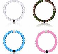 Bracelet/Strand Bracelet,Sports Power Balance Bracelet 4 Color Mud/Water Natural Gift Bead Silicone Jewelry Find your Balance 1 pcs