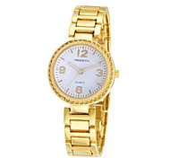 REBIRTH® Women's Simple Fashion Alloy Strap Quartz Casual Wrist Watch