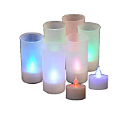 Colorful LED Candle Lamp with Voice Sensor