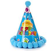Birthday Party Accessories-1Piece/Set Hats Tag Card Paper Classic Theme Cylinder Non-personalised Multi Color