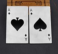 um cartão de crédito pás abridor de estilo criativo de poker de aço inoxidável em forma de abridor de garrafas