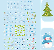 11 Designs Nail Art Christmas Stickers Snowman Christmas Tree Nail Beauty BLE1753-1763