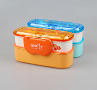 yeeyoo marca con la cuchara plástica almuerzo promoción de la fábrica de porcelana de la caja