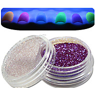 1 Bottle Nail Art Beautiful Noctilucent Powder Colorful Color Glitter Shining Nail Beauty Decoration Optional YG10