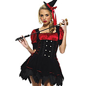 Cosplay Costumes/Party Costumes Wizard Halloween Red/Black Solid N/A Skirt / Hat