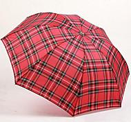 Plaid Umbrella Heaven Umbrella Folded Strong Water-Repellent 339 Days Grid