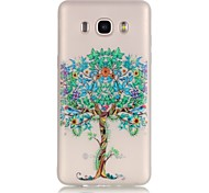 TPU material The New Blooms Pattern Luminous Phone Case for GalaxyJ710/J510/J3/J120/G530/G360/I9060