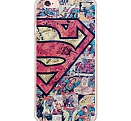 Super Man Pattern Soft Ultra-thin TPU Back Cover For iPhone 6s Plus/6 Plus/6s/6/5s/5
