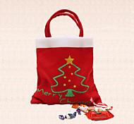 bolsa de caramelos de 1pc feliz del árbol de navidad fuentes de la fiesta de año nuevo en casa