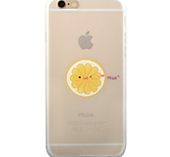 Yellow Orange And Small Hearts Pattern TPU Matte Phone Case Soft Case for iPhone           6/6S/6Plus/6SPlus