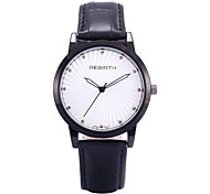 REBIRTH® Unisex Simple Fashion PU Leather Strap Quartz Wrist Watch