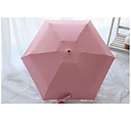 Candy Color Black Plastic Five Folding Mini Umbrella Sun Umbrella Sun Anti Ultraviolet Umbrella