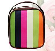 Stripe Makeup Bag Cosmetic Box Waterproof Polyester Travel Bag Tear Wash Bag