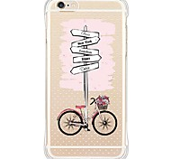 Guideboard and Bike TPU Soft Anti shock/Dust proof/Waterproof/High Purity Back Cover For i6s Plus/6 Plus/6s/6/SE/5S/5
