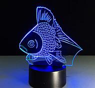 1pc toque 3 d levou colorido lâmpada visão de mudança lâmpada atmosfera dom mesa cor luz noite
