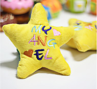 Cat / Dog Pet Toys Plush Toy Star Yellow cloths