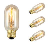GMY 4Pcs T45 Edison Bulb Vintage bulb 40W E27 AC220-240V Decorate Bulb