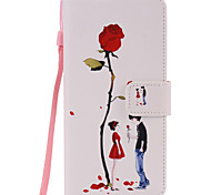 PU Leather Material Lovers Pattern Painted Phone Sets for Samsung Galaxy Note 7/5/4