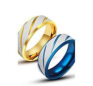 Anillos,Joyas Dorado / Azul De Moda Casual Titanio Acero 1 pieza,7 / 8 / 9 / 10 / 11 Hombre