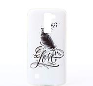 Para Funda LG Diseños Funda Cubierta Trasera Funda Pluma Suave TPU LG LG K10 / LG K7