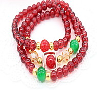 Women Glass Strand Bracelets