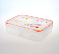 YEEYOO Brand Promotional Compartment Microwave Safe Plastic Bento Lunch Box Container with Dividers