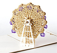 Three-Dimensional Greeting Cards Handmade Cards To Make 3D Ferris Wheel Creative Gift Card