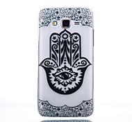 TPU Material Black Finger Flower Pattern Cellphone Case for Samsung Galaxy J710/J510/J5/J310/G530/G360