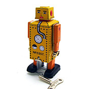Novelty Toy  Wind-up Toy Novelty Toy   Square  Warrior  Robot Metal Yellow  Khaki For Kids