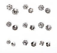 beadia 297pcs смешанный стиль 9&размеров антикварные серебряные шарики сплава крышка металла цветок шарики прокладки