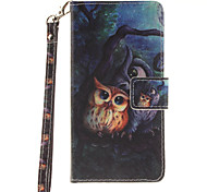 Painted Owl Pattern Card Can Lanyard PU Phone Case For Samsung Galaxy G530 G360 J1 J3 J5 (2016)