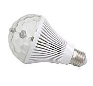 E27 6W 300LM 3-LED Colorful RGB Light Automatic Revolving Deco Bulb