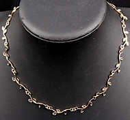Ожерелье Ожерелья-бархатки Бижутерия Повседневные Модно Сплав Золотой 1шт Подарок