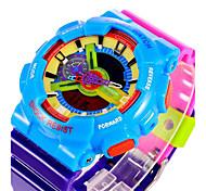 SANDA® Unisex Candy Color Fashion Sport Analog Digital Double Time Waterproof Quartz Watch Fashion Wrist Watch Cool Watch