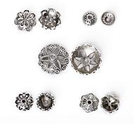 beadia 170pcs смешанный стиль 5&размер античный серебряные шарики сплава металла крышка формы цветка шарики прокладки